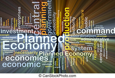 planlagt, økonomi, baggrund, begreb, glødende