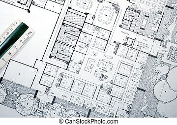 plannen, architect, tekening