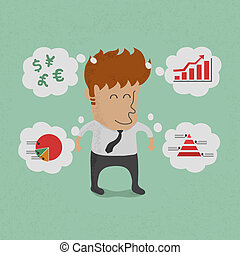 plannen, denken, zakenmens , zijn