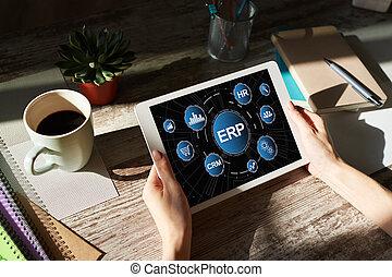 planning., 과정, 자원, system., automation., erp, 기업, 사업
