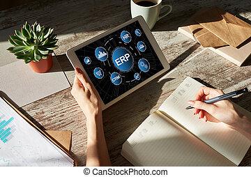 planning., 자원, automation., 기업, erp, 과정, system., 사업