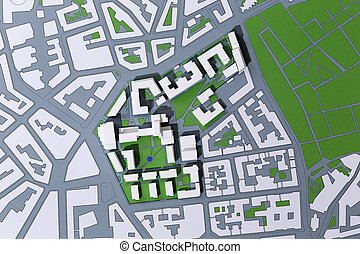 Planning A District, Map - Picture of an Achitectur Plan,...