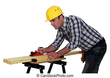 planning, aannemer, hout