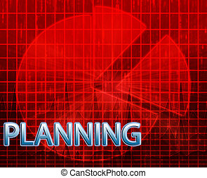 Planning budgeting illustration - Illustration of planning...