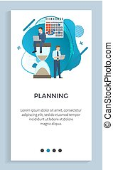 Planning Business Project, Poster Businesspeople