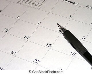 Planning - Calendar and pencil, indicate future planning or...