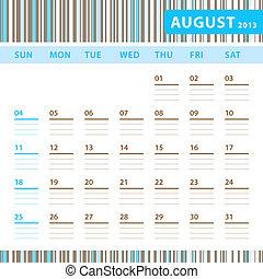 Planning Calendar - August 2013