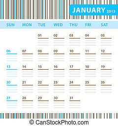 Planning Calendar - January 2013