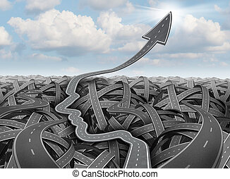 planning, en, succes, strategie