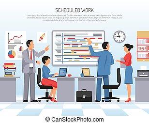 Planning Flat Illustration