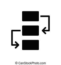 planning glyph flat icon