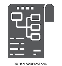 Planning glyph icon, development and business, business plan sign vector graphics, a solid pattern on a white background, eps 10.