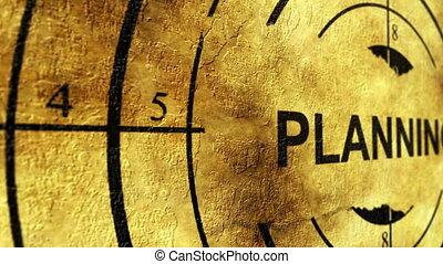 Planning grunge target concept