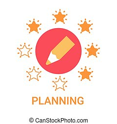 Planning Icon Business Strategy Development Banner