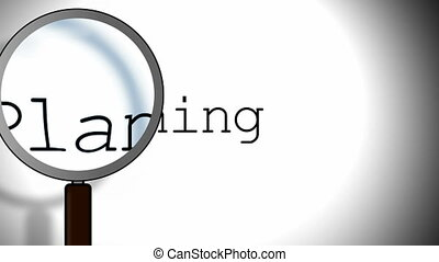 Planning Magnifying Glass