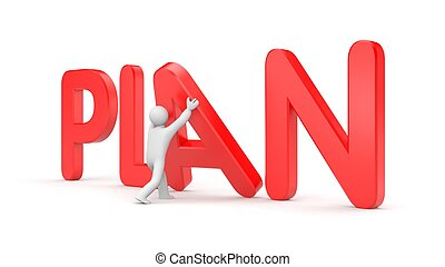 Planning metaphor - Business concept. Isolated on white
