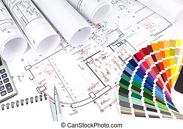 Planning of interiors design
