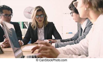 planning., personnes réunion, brain-storming, démarrage,...
