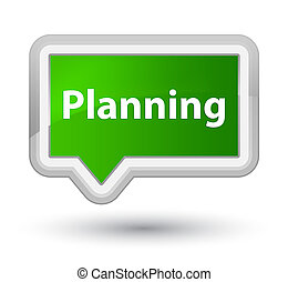 Planning prime green banner button