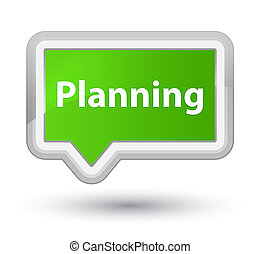 Planning prime soft green banner button