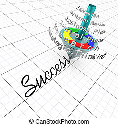 planning:, successo, affari, assemblea, revisione,...