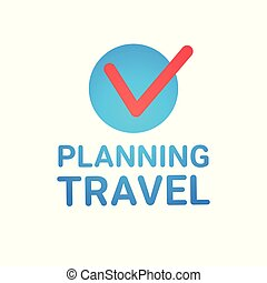 Planning Travel Icon Isolated Vacation Route Tickets Booking Concept