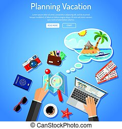 Planning Vacation Concept