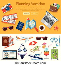 Planning Vacation Infographics