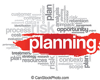 PLANNING Word Cloud - Word Cloud with PLANNING related tags...
