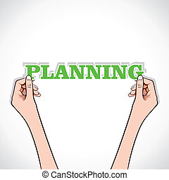 planning word in hand