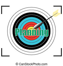 Planning  word Vector, business concept.