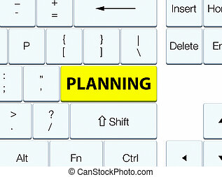 Planning yellow keyboard button