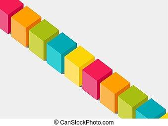 plano, 3-dimensional, concepto, diversidad, colorido, ...