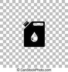 plano, aceite, jerrycan, icono