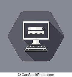 plano, app, diseñador, icono