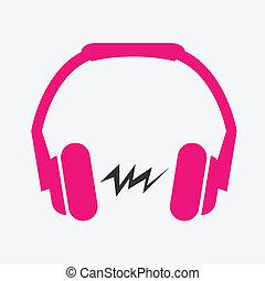 plano, auricular, icono