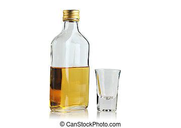 plano, bebida alcohólica, Bebida, botella