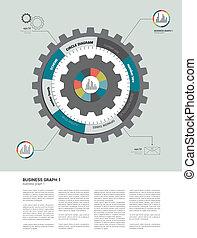 plano, círculo,  infographic, diagrama