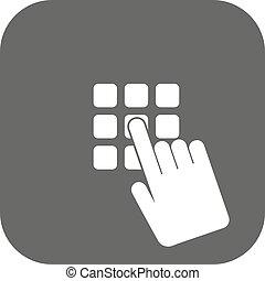 plano, código, alfiler, acceso, símbolo., identificación,...