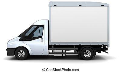 plano, cama, furgoneta