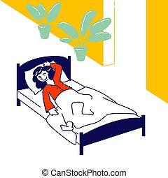plano, catre, sueño, tiempo, dormitar, relajante,...