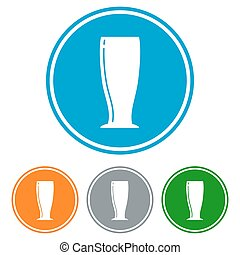 plano, cerveza, pilsner, vidrio