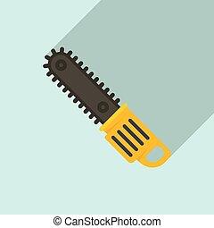 plano, chainsaw, instrumento, estilo, icono