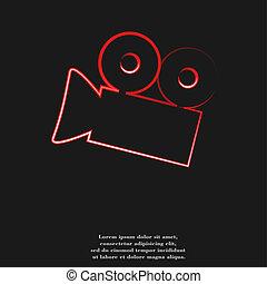 plano, cine, resumen, cámara, diseño, plano de fondo, icono