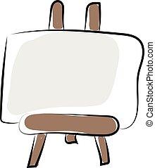 plano, clipart, de madera, marco de la foto, ilustración, color, silla, vector, grande, blanco, montado, o