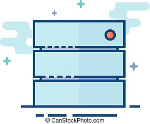 plano, color, icono, -, base de datos