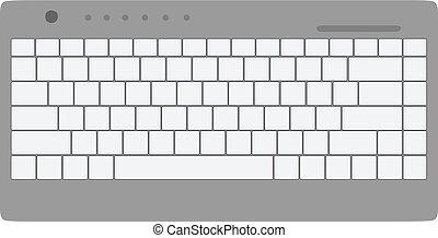 plano, comunicación, cima, equipo, vector, computer., teclado, dispositivo, vista, icono