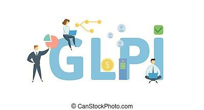 plano, concepto, cartas, illustration., gente, acronym.,...
