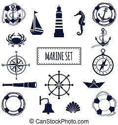 plano, conjunto, marina