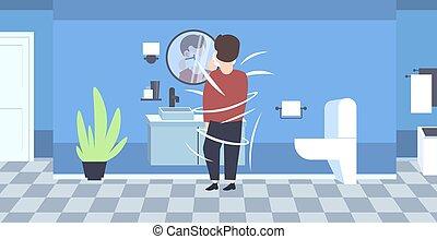 plano, cuarto de baño, el suyo, viruta, moderno, cara,...